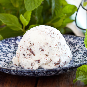 Mint with shaved choc